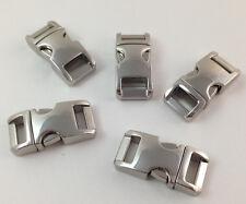 "5 3/8"" Metal side release buckles for paracord bracelets curved top Usa Seller"