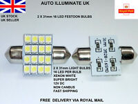 2x 31mm White Led Number Plate Interior Festoon Light Bulbs Lamps 269 c5w 12V