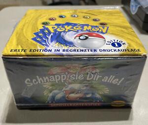 German Pokemon Base Set 1st Edition Booster Box Empty NO CARDS Artwork