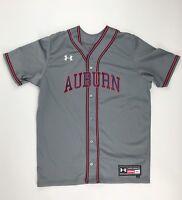 Under Armour  Auburn Tigers Rundown Baseball Jersey Men's M #37 Gray UBJ110M