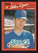 1990 Donruss Nolan Ryan 5,000 K's  Rangers #665 Error Card Back Has King of King