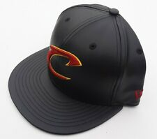 CLEVELAND CAVALIERS CAVS NBA NEW ERA 5950 Faux Leather Fitted Hat NWT Size 7 1/8