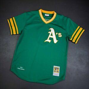100% Authentic Reggie Jackson Mitchell Ness 1974 Athletics Jersey Size L 44 Mens