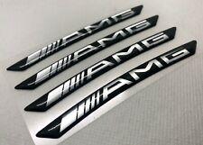 "4pcs Mercedes AMG 20"" Rims 3D Domed Stickers.(Read description) Black Silver"