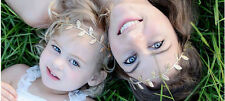 MOMMY BABY TODDLER GIRL KIDS HAIRBAND HAIR GOLD LEAF HEADBAND GOLD SILVER