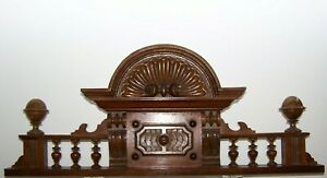 Large, rare antique cabinet top / crown / around 1900