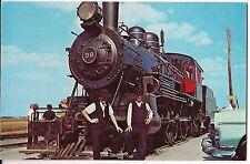 Amish Boys Cow-Catcher 98 Steam LOCOMOTIVE Train Strasburg Railroad Postcard  PA