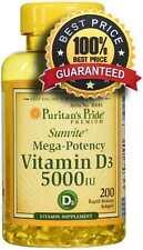 Vitamin Vit D3 5000iu 200 softgels - Puritans Pride 24HR DISPATCH