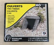 Woodland Scenic HO Scale Culverts - Two Timber Culverts - C1265