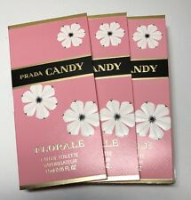 3 * Prada Candy Florale EDP 1.5ml/each Mini Spray Sample New