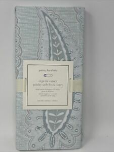 1 NWT Pottery Barn Kids Sateen Paisley Crib Fitted Sheet  Seaglass Bluegreen New