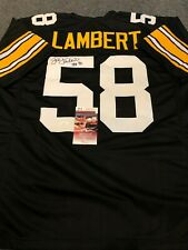 PITTSBURGH STEELERS JACK LAMBERT AUTOGRAPHED SIGNED INSCRIBED JERSEY JSA COA