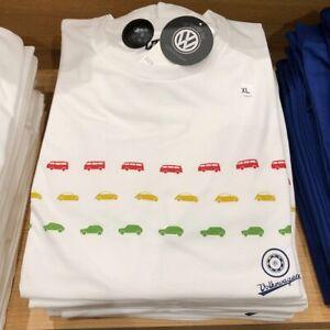 NWT Uniqlo UT The Brands Volkswagen VW Beetle Bus Rabbit GTI UT Shirt white sz L