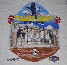 Rolling Stones Bridges to Babylon 97/97 Local Crew Large Black Vintage T-Shirt