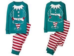 NWT Gymboree Trompe Holiday Elf Gymmies Sleep Set Christmas Pajamas 3 5 6 7 8