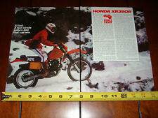1983 HONDA XR350R - ORIGINAL ARTICLE XR 350R