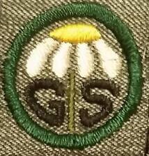 1928-1938 Girl Scout Grey Green Badge SQUARE - RAMBLER