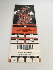Guerrero Last Final Hit #2,590 RBI 2B 2011 9/27/11 Orioles Red Sox Full Ticket