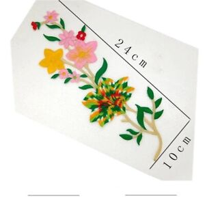 3D Flower Embroidered  Aplique Iron On Patches!