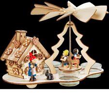 """Weihnachtspyramide Teelichtpyramide """"Hänsel und Gretel"""" mit Räucherhaus"""