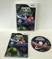 Super Mario Galaxy Nintendo Wii Game w Disc Case & Manual TESTED WORKS SCRATCHED