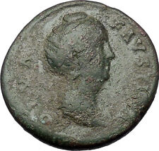 Faustina I Big Sestertius Rare Ancient Roman Coin Deification Issue Ceres i54416