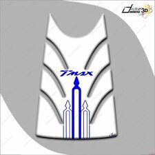 KIT ADESIVI RESINA 3D T MAX TMAX 2008-2011 MOTO CARENE SERBATOIO BIANCO BLU 500