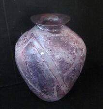2410* vase castellino georges en verre avec inclusion métallique biot