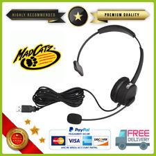 f6468fb2f023e2 Cuffie nere Headset Headcom pro Microfono per Sony PS3 Playstation 3 Giochi