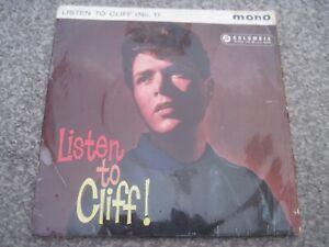 CLIFF RICHARD Listen To CLIFF (No 1)  EP  1961  COLUMBIA   superb EX