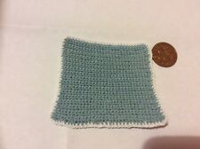 THE DOLLS HOUSE RUG OR BED COVER BLUE GREAT 4 ANY ROOM SO CUTE BRAND NEW