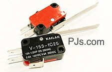 V-153-1C25 Micro Limit Switch Long Straight Hinge Roller Lever Type SPDT x 1pc
