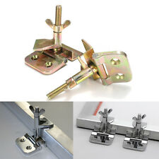 Silk Screen Printing Butterfly Hinge Clamp Stainless Steel DIY Hobby Tool 2pcs