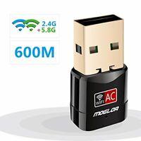Mini Clé Wifi Dongle USB 1200Mbps Universel Réseau Sans Fil Double Bande 5G 2.4G