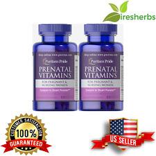 Prenatal Multi Vitamins Female Pregnancy Folic Iron Zinc Supplement 200 Caplets