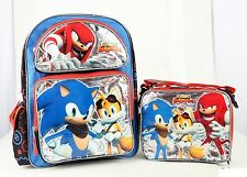 """Sonic the Hedgehog Team 16"""" inches Large Backpack & Lunch Box Licensed Product"""