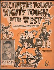 Oh They're Tough Mighty Tough In The West 1937 Additional Part for Accordion