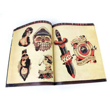 108 Page Popular Skull Animal Flower Design Tattoo Flash Outline Sketch book