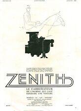 Publicité ancienne voiture carburateur Zenith 1931 Publix issue de magazine