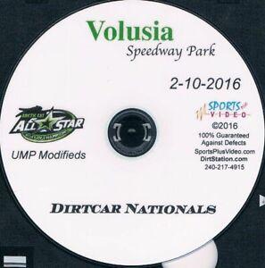 UMP Modifieds Dirtcar Nationals DVD From Volusia Speedway Park 2-10-2016