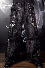 TRIPP MECHANIC ACID BLACK RAVE GOTHIC CYBER CHAIN GOTH TECHNO JEANS PUNK PANTS