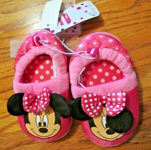 Disney's MINNIE MOUSE~Toddler slippers~Girl's Size 7/8~NEW with tags