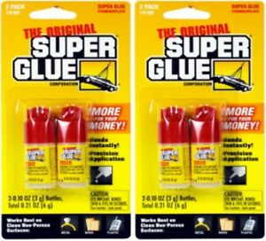 The original Super Glue Bottles Lot of 4, 6 and 8 Brand New + Ships Free