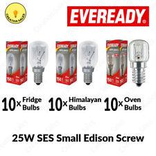 10 X Oven Bulbs Fridge Appliances Light Himalayan Salt Lamps 25W Pygmy E14 Screw