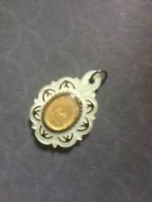 Antique French Mother of Pearl Religious Pendant