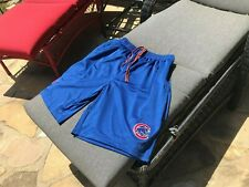 Chicago Cubs Shorts with 2 Side Pockets/1 Rear Pocket Cotton/Poly Large Blue Xl