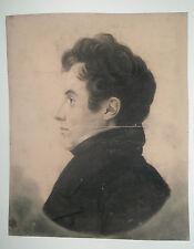 BOUCHARDY - (PORTRAIT d'homme). 1822. DESSIN au PHYSIONOTRACE Signé & daté
