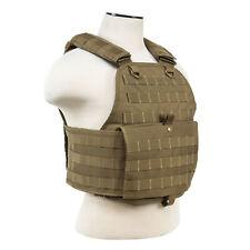 NCSTAR Plate Carrier Vest Nylon Tan Size Medium-2XL Fully Adjustable CVP CV2924T