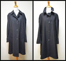 PIAZZA SEMPIONE Black Microfiber/Charcoal Gray Reversible All Season Coat SZ 40
