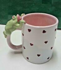 Valentine hearts with 3D Smoochie Frog Coffee/Tea Mug
